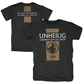 Bravado Unheilig - Geboren um zu leben 4844408 Unisex - Erwachsene Shirts/ T-Shirts, Gr. 40/42 (L), Schwarz (schwarz)