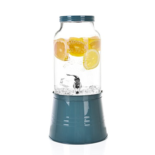 1 5 Gallon Large Single Glass Mason Jar Beverage Drink