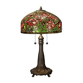 Tiffany Rose 2 Light Dome Table Lamp