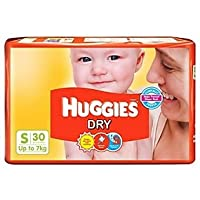 30 Count Huggies Dry Diapers Small Size at Rs 210 - Amazon Deals