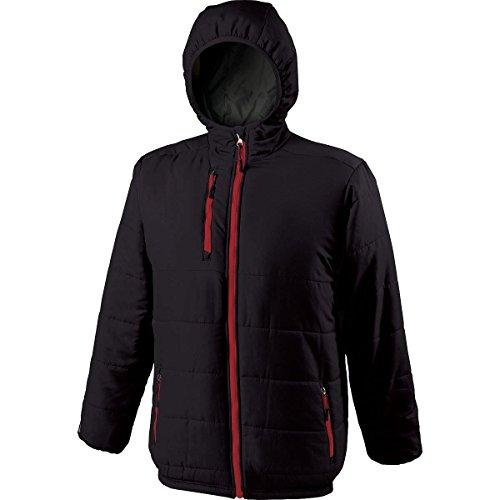 Holloway Youth Unisex Aero-Tec Tropo Warmup Jacket Large Black/Scarlet