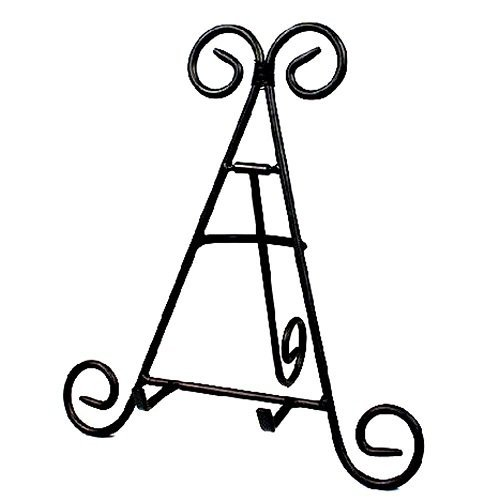 Darice 12&#8243; Tall Black Iron Display Stand Holds Cook Books, Plates, Pictures &amp; More!