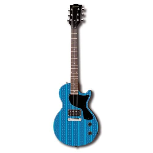 maestro by gibson diva series guitar single cutaway blue pinstripe. Black Bedroom Furniture Sets. Home Design Ideas
