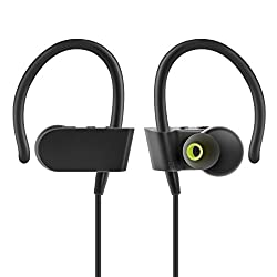 Photive PH-BTE70 Wireless Bluetooth Earbuds. Sweatproof Secure Fit Wireless Headphones Designed to Stay in your Ears