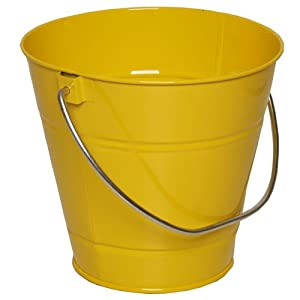 Yellow small colorful metal pail buckets sold for Tiny metal buckets