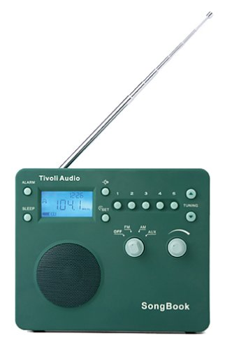 Tivoli Audio SongBook AM / FM Alarm Clock Travel Radio, Green