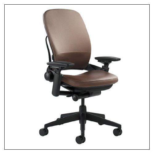 Steelcase Leap Leather Chair, Mahogany