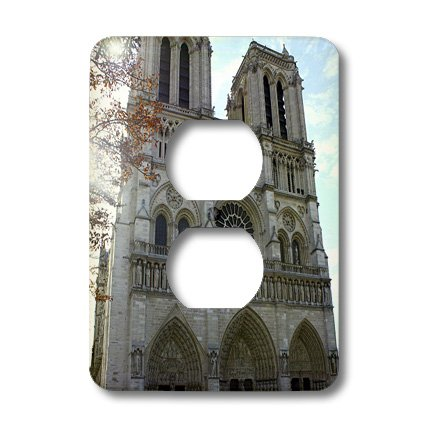 Lsp_38317_6 Lenas Photos - Paris - Standing Tall And Proud Is The Cathedral Of Notre Dame In France - Light Switch Covers - 2 Plug Outlet Cover