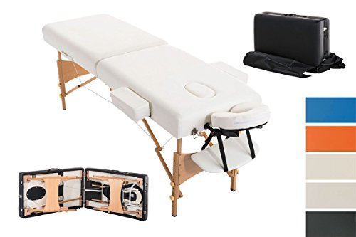 CLP regolabile Luxus massaggio sedia a sdraio POLLY con 10 cm spessa imbottitura, 2 zone per, rimovibile con braccioli (in fino a 5 colori diversi) moderno bianco