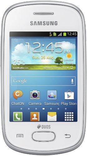 Samsung Galaxy Star Duos S5282, Dual SIM, Factory Unlocked Android SmartPhone - International Version, No Warranty (White)
