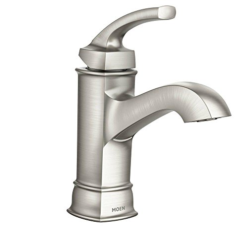 Moen WS84414MSRN Hensley Single Handle 1 Hole Bathroom Faucet, Spot Resist Brushed Nickel (Mini Shower Faucet compare prices)