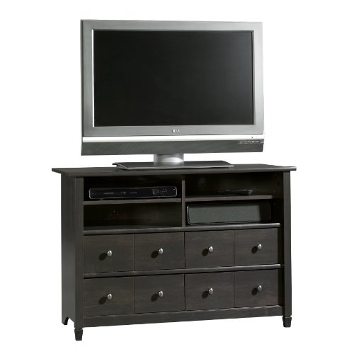 Sauder Edge Water Highboy TV Stand, Estate Black photo