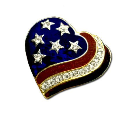 Patriotic Heart Brooch/pin
