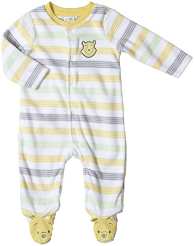Disney Baby Unisex-Baby Pooh Microfleece Sleep And Play, Warm Yellow, 0/3 Months front-361444