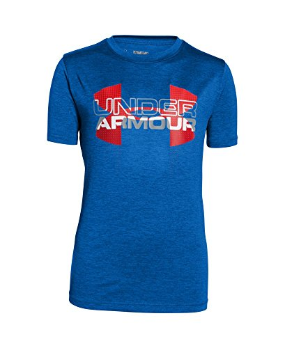 Under Armour Boys' UA Tech Big Logo Hybrid T-Shirt X-Large / 18-20 Big Kids ULTRA BLUE