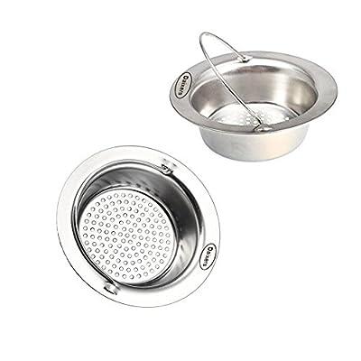 Daixers 2 Pack 4.3 Inch Kitchen Garbage Sink Strainer Heavy-Duty Stainless Steel
