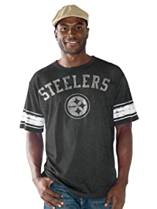 Pittsburgh Steelers Option Play Distressed Vintage Tri-blend T-shirt by G-III Sports