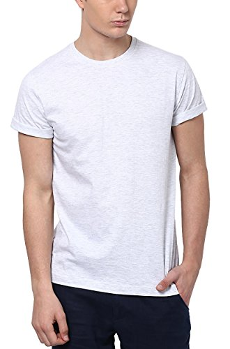 Aventura Outfitters Round Neck White Melange T-Shirt - L (AOTE05A-L)