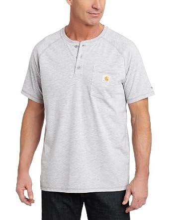 Carhartt Mens Force Performance Cotton Short Sleeve Henley by Carhartt