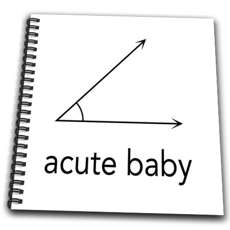 Db_123039_2 Evadane - Baby Newborn Quotes - Acute Baby. Geometry. Math Humor - Drawing Book - Memory Book 12 X 12 Inch front-236547