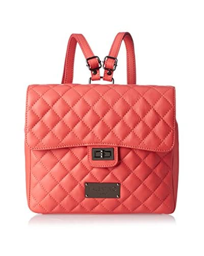 Valentino Bags by Mario Valentino Women's Dora Quilted Backpack, Coral Red