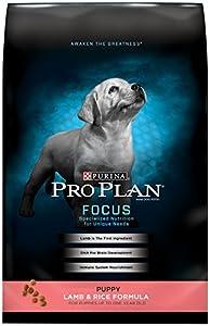 Purina Pro Plan Dry Puppy Food, Natural Lamb and Rice Formula, 34-Pound Bag
