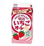 【冷蔵】【10本】いちごオ・レ 500ml 明治