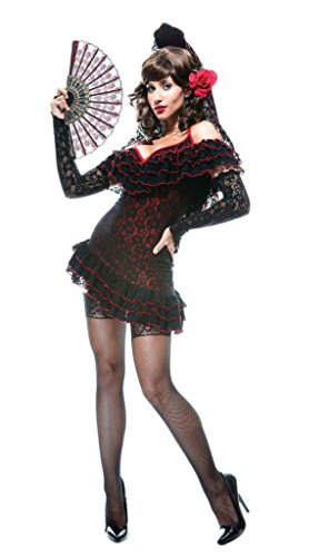 Papermagic Womens Historic Sexy Flamenco Lady Of Spain French Kiss Fancy Costume