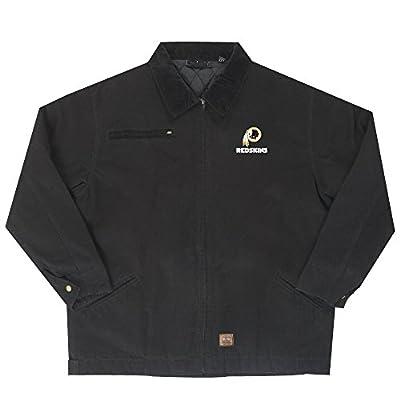 NFL Washington Redskins Tradesman Canvas Quilt Lined Jacket, Black, Large