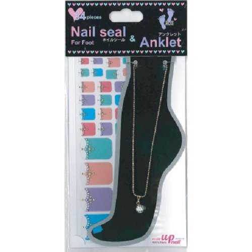 Nail seal & Anklet for Foot ネイルシール & アンクレット NSLーA001