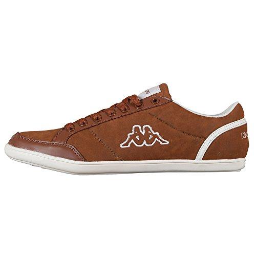 Kappa KENT LOW 241642, Sneaker uomo, Marrone (Braun (COGNAC/WHITE 5410)), 46