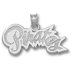 East Carolina University Pirates Pendant 1 2 Inch - Sterling Silver by Logo Art