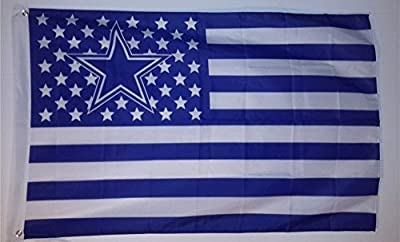 Dallas Cowboys Nation Stars and Stripes Flag Banner Cowboysnation