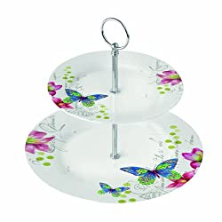Paperproducts Design 2-Tier Dessert/Tea Server Aporia Butterfly
