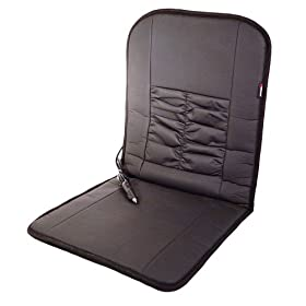 Wagan IN2282 12V Faux Leather Deluxe Heated Seat Cushion