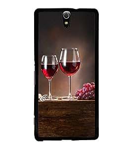 Grapes and Wine 2D Hard Polycarbonate Designer Back Case Cover for Sony Xperia C5 Ultra Dual :: Sony Xperia C5 E5533 E5563