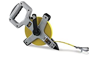 Komelon N6200 Open Reel Long Steel Tape Measure, 200-Feet