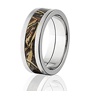 RealTree Max 5 Camo Rings Rings with a Crossbrush Finish & Comfort Fit