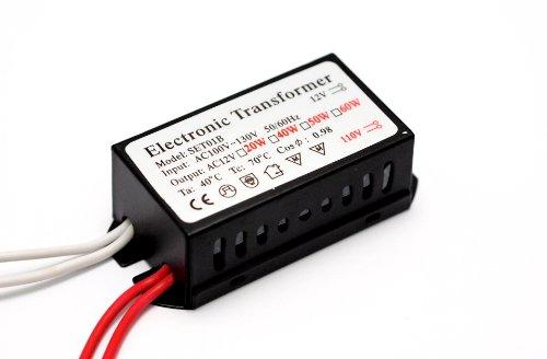12Vmonster ® 50Watt 100V-120V Halogen Spot Lamp Power Supply Low Voltage Transformer Mr16 Bulb Driver