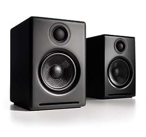 Audioengine A2 Premium Powered Desktop Speakers - Pair (Black)
