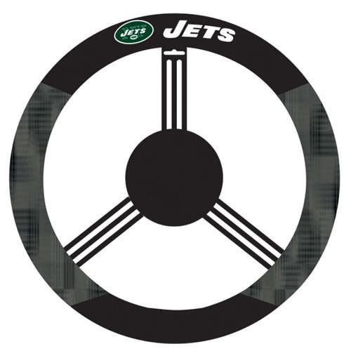 New York Jets Poly-Suede Steering Wheel Cover - NFL at Amazon.com