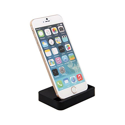 Newnow Iphone 6 Charger Docking Station Cradle Charging Sync Dock For Apple Iphone 6 Plus 6 5 5S 5C (Black) front-275578