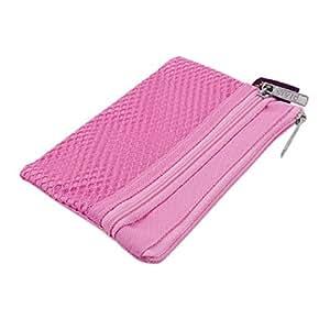 Uxcell Nylon Student Zip Up Eraser Tape Holder/Bag, Pink (a11102100ux0465)