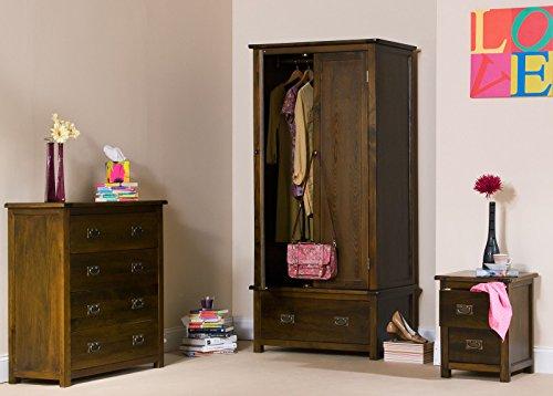Wadebridge Antiqued Walnut Wooden Large Bookcase