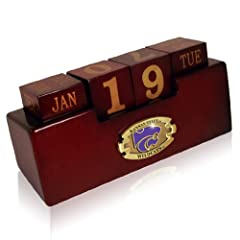 Buy NCAA Kansas State Wildcats Wood Perpetual Calendar by Paragon Innovations Company