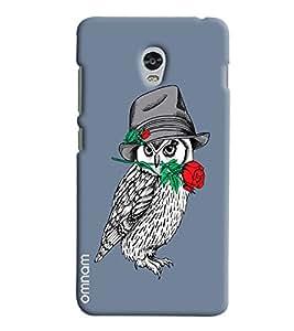 Omnam White Owl Carrying Rose For Valentine Printed Designer Back Cover Case For Lenovo Vibe P1