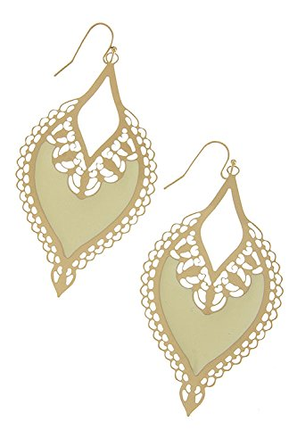 The Jewel Rack Detailed Ornate Earrings (Ivory)