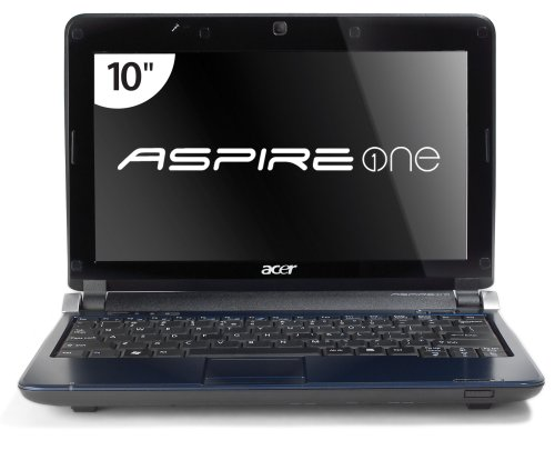 Acer Aspire One AOD150-1165 10.1-Inch Sapphire Blue Netbook - 6.5 Hour Battery Life