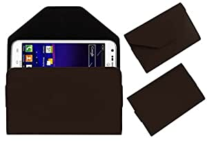 Acm Premium Pouch Case For Samsung Galaxy Skyrocket Flip Flap Cover Holder Brown