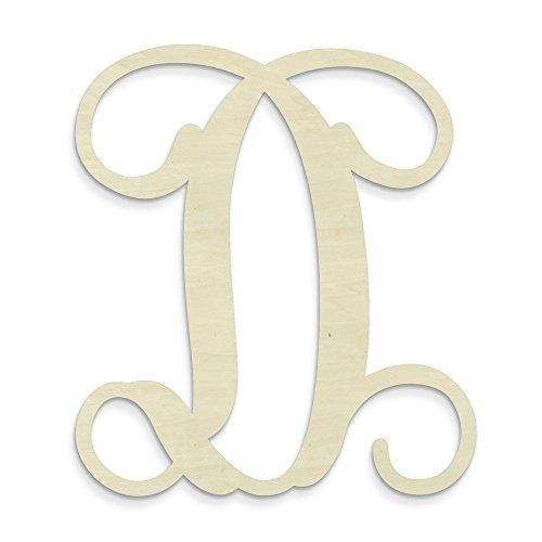 UNFINISHEDWOODCO Single Vine Unfinished Monogram